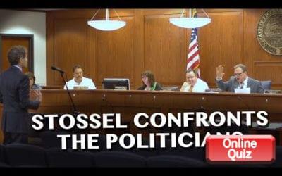 Stossel Confronts Politicians